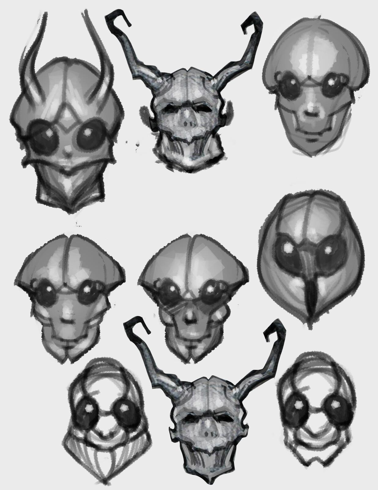 head sketches 1