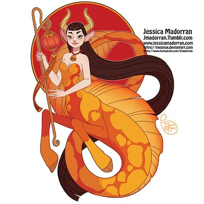 Jessica madorran patreon january 2021 sticker design ox mermaid artstation