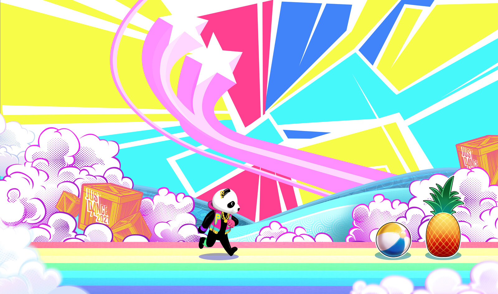 Création de décors pour l'univers de Just Dance 2021