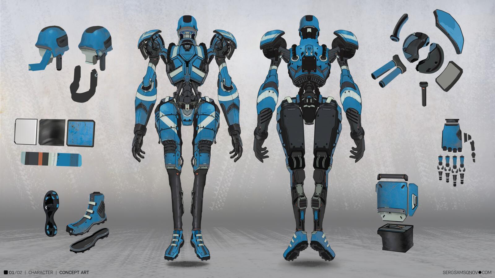 Craracter concept art Robot