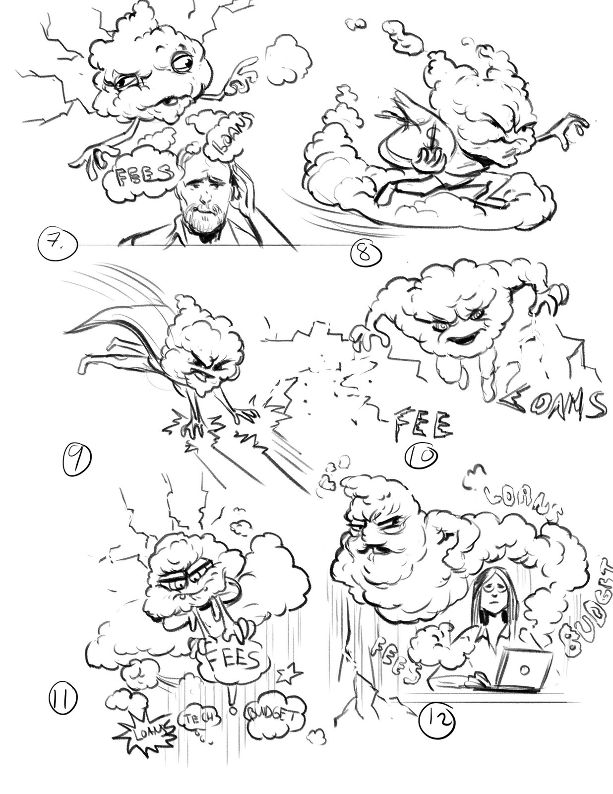 Early Brainstorm sketches 02