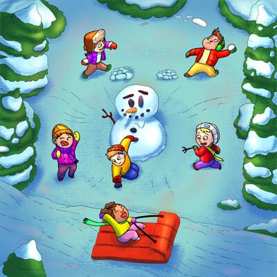 Guilherme sabino brincando na neve