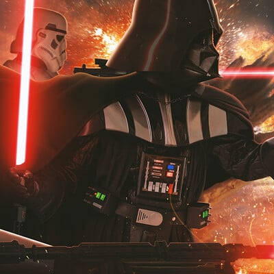 Andreas bazylewski art darth vader and the imperial army