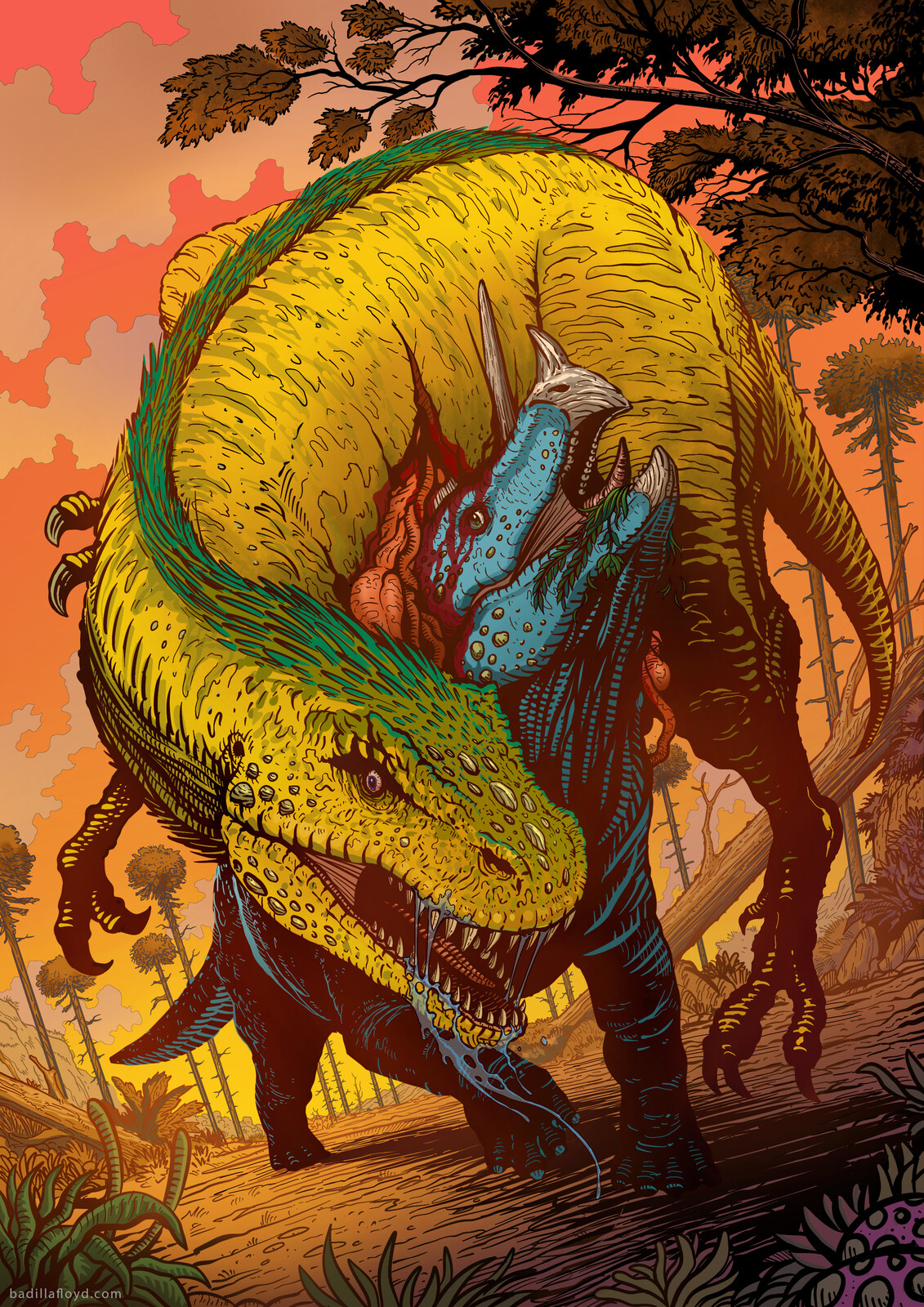 Triceratops vs Tyrannosaurus