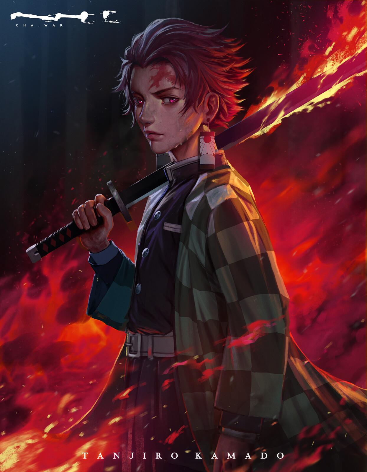Demon Slayer - Tanjiro Kamado - Fanart
