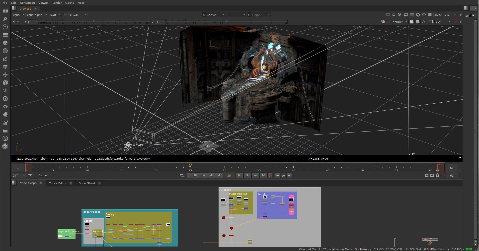 Nuke Camera Projection & Compositing