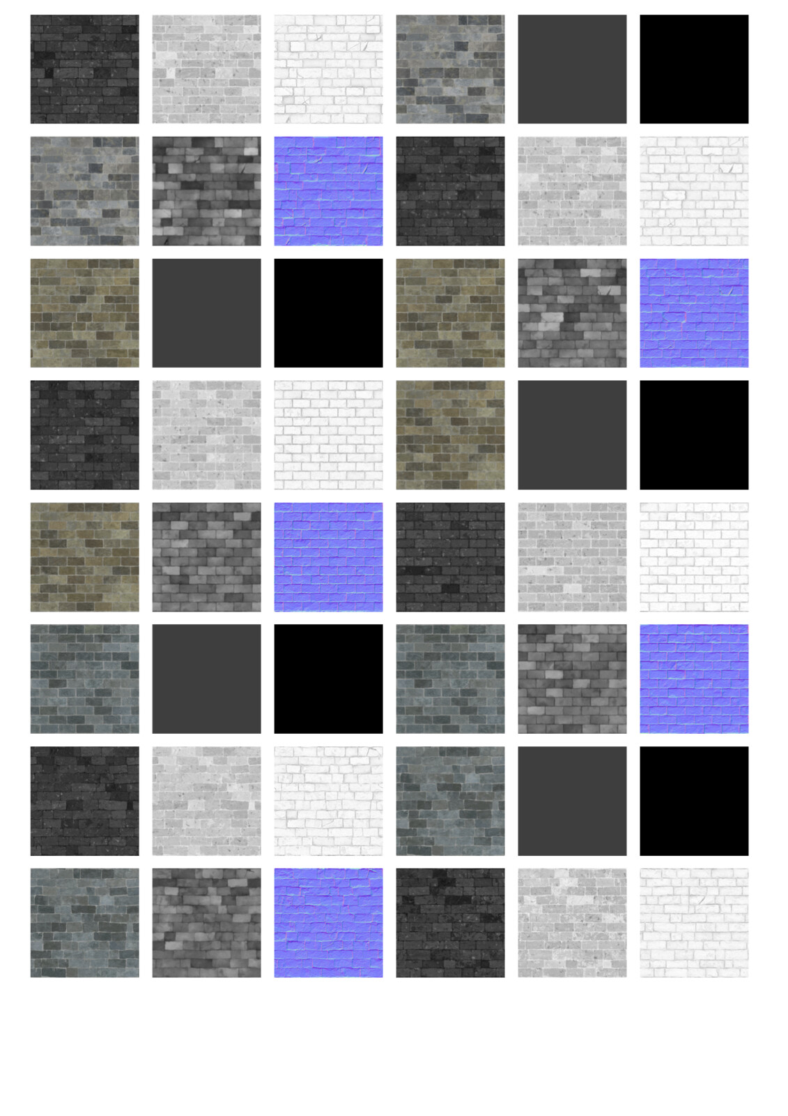 Here is one of two of an overview of many of the bespoke materials individual texture maps I created for JGA - this doesn't show the in-ArchiCAD only vector artwork I created and associated with these materials