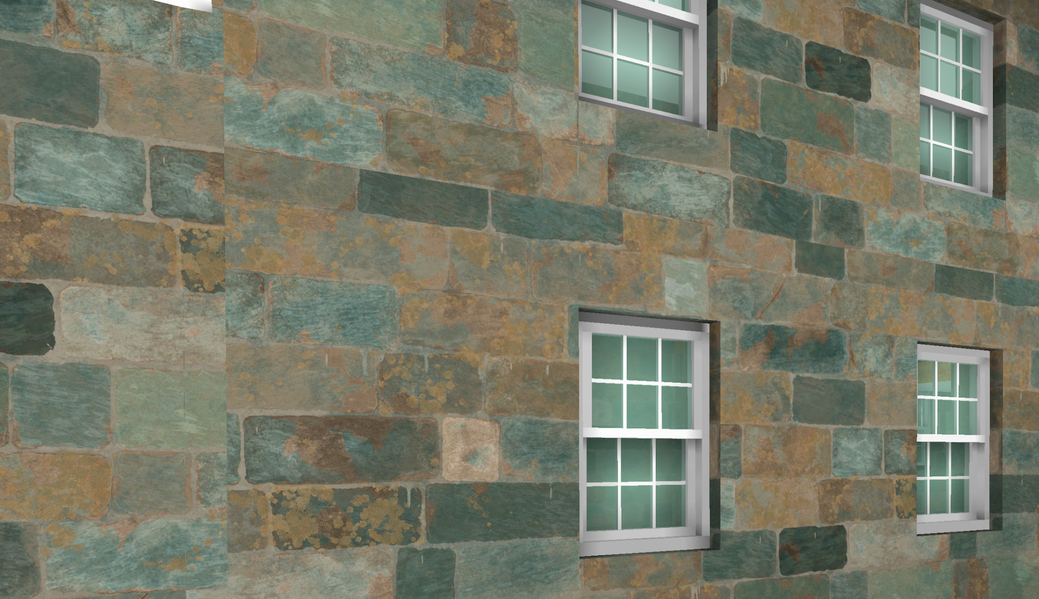 Newly developed JGA Guernsey granite material in 3D window and BIMx looks like this