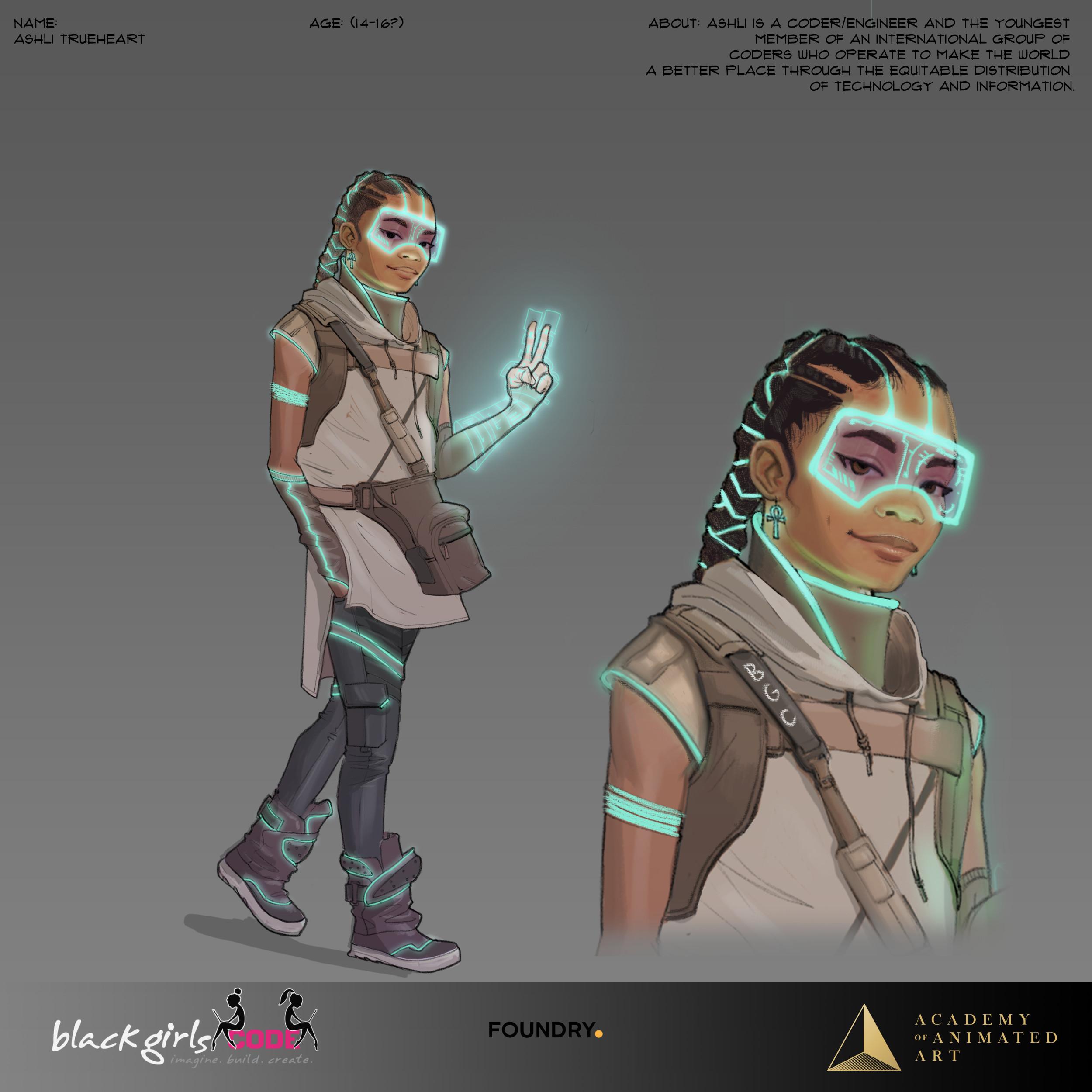 One of the original concept sketches