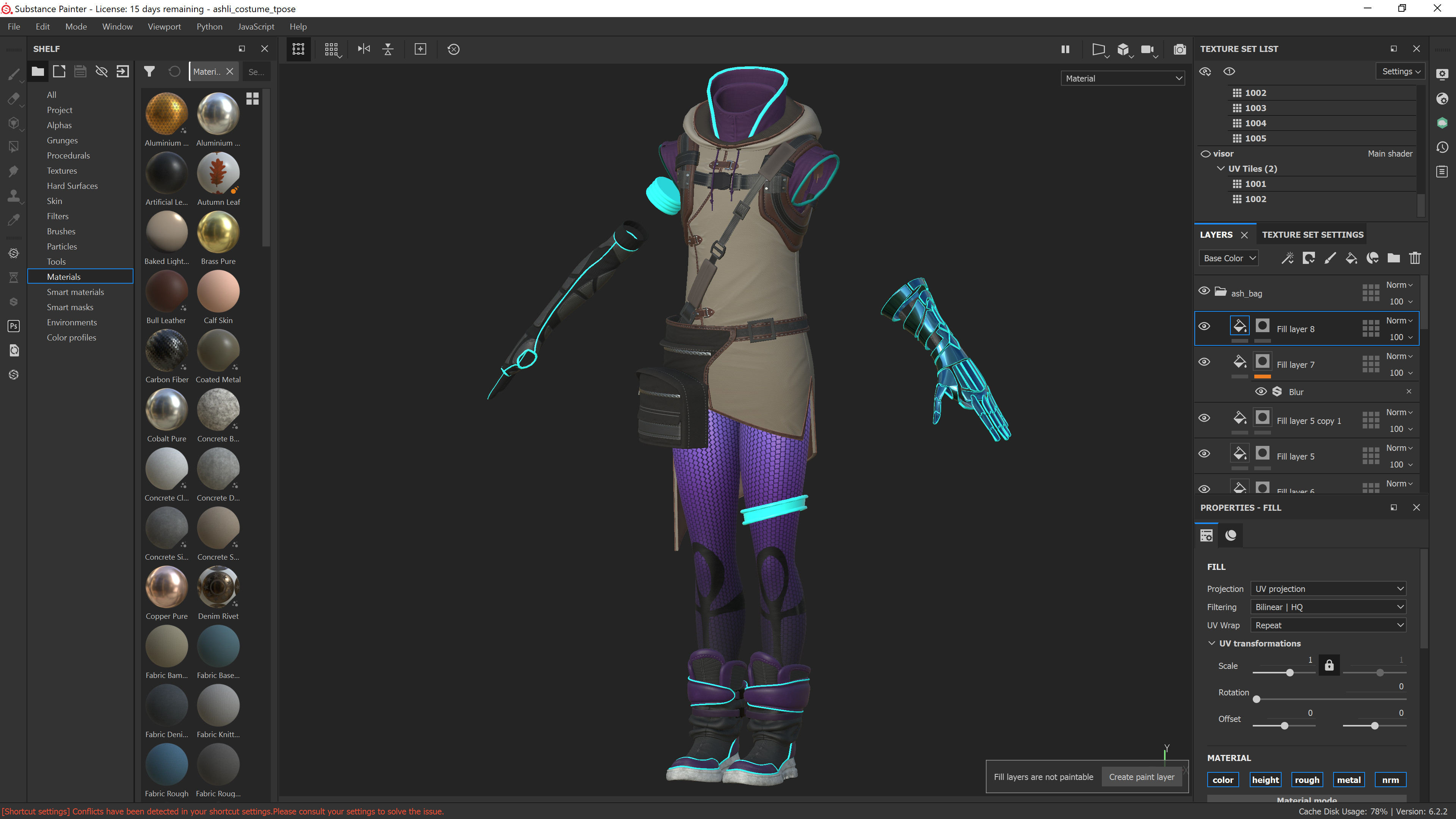 costume in substance painter
