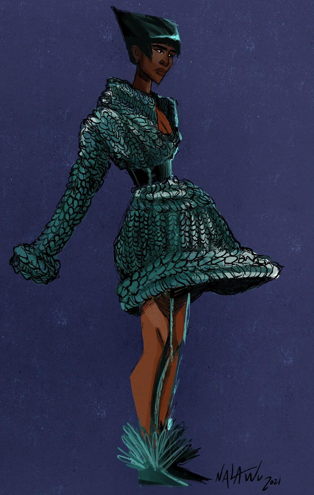 Fashion Sketch - Knitwear