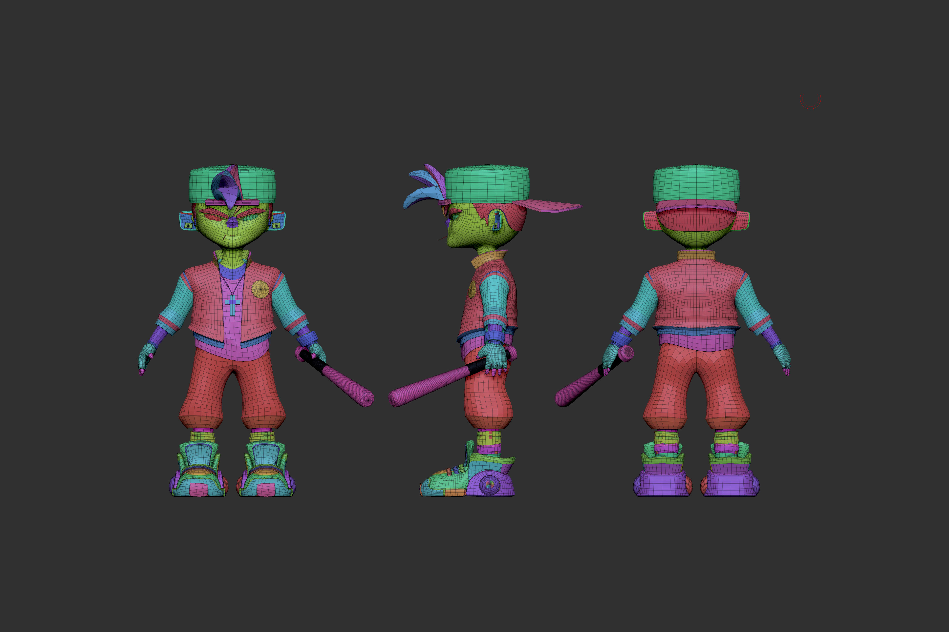 Simple Optimized - Zbrush Poly Groups View