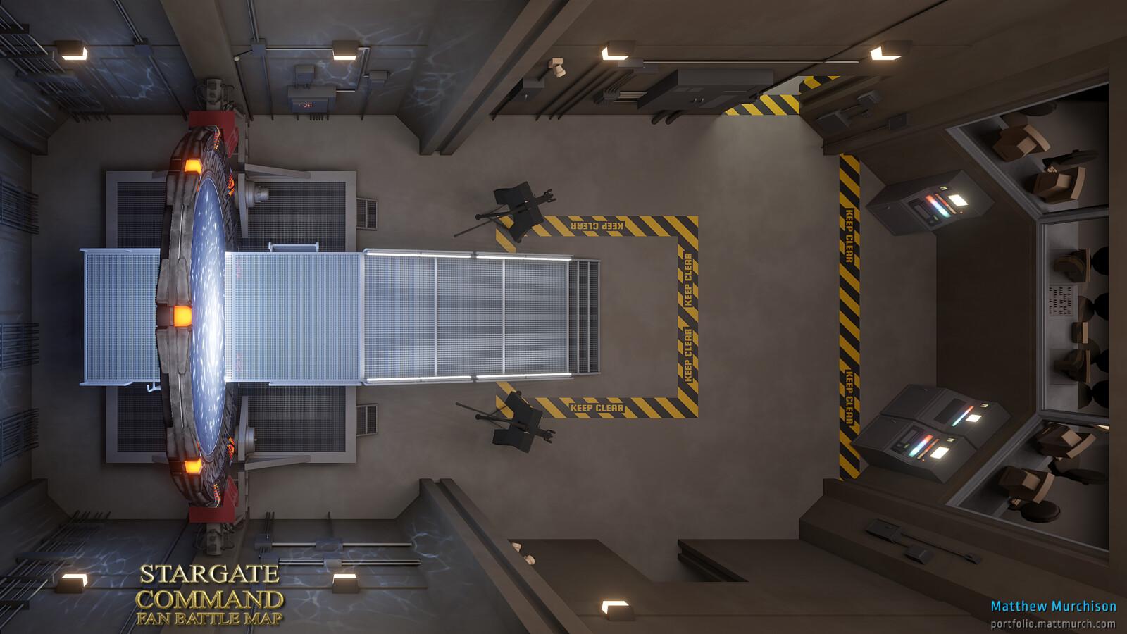 SGC Gateroom Battlemap