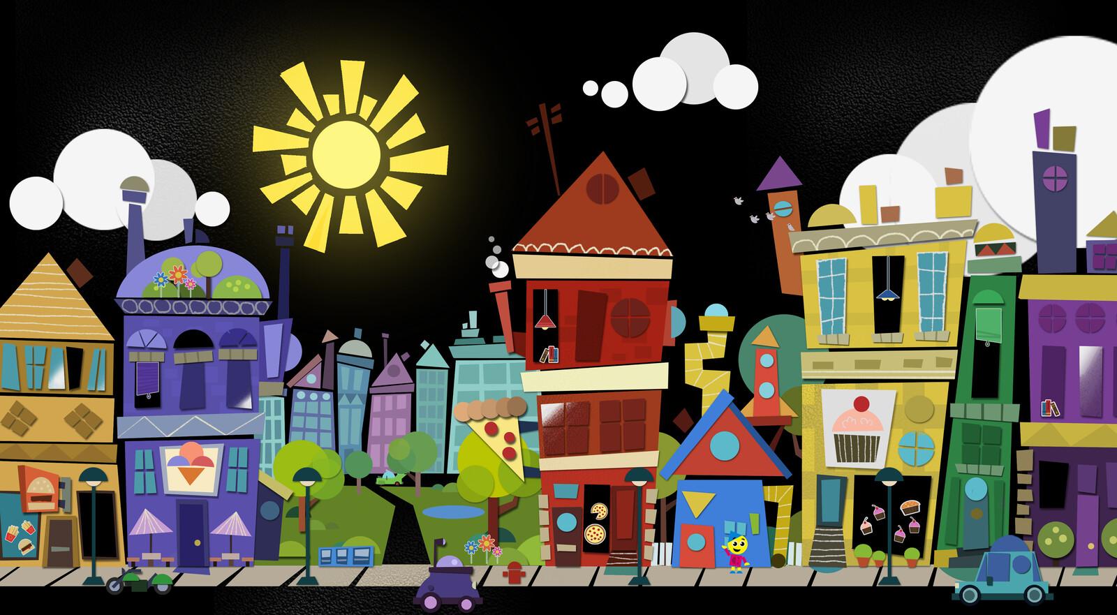 Charlie's Colorforms City - Visual Development
