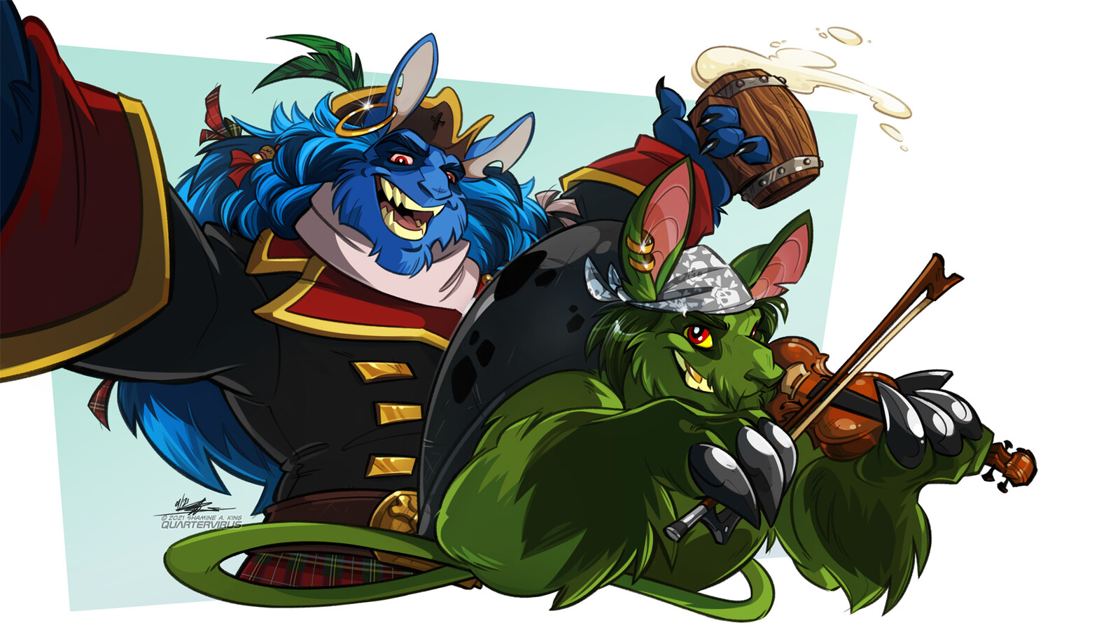 Starting the new year with Horace and Hart, my Neopets celebrating with a bit of (child-friendly liquid and) a good tune.