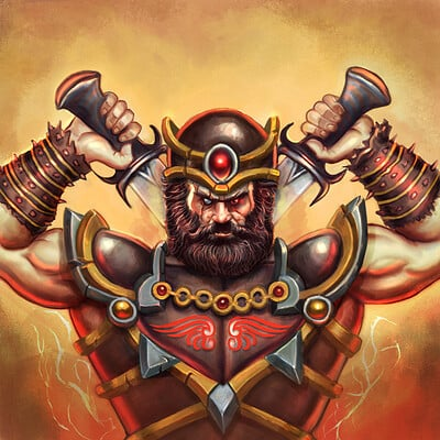 Okan bulbul character warrior 01