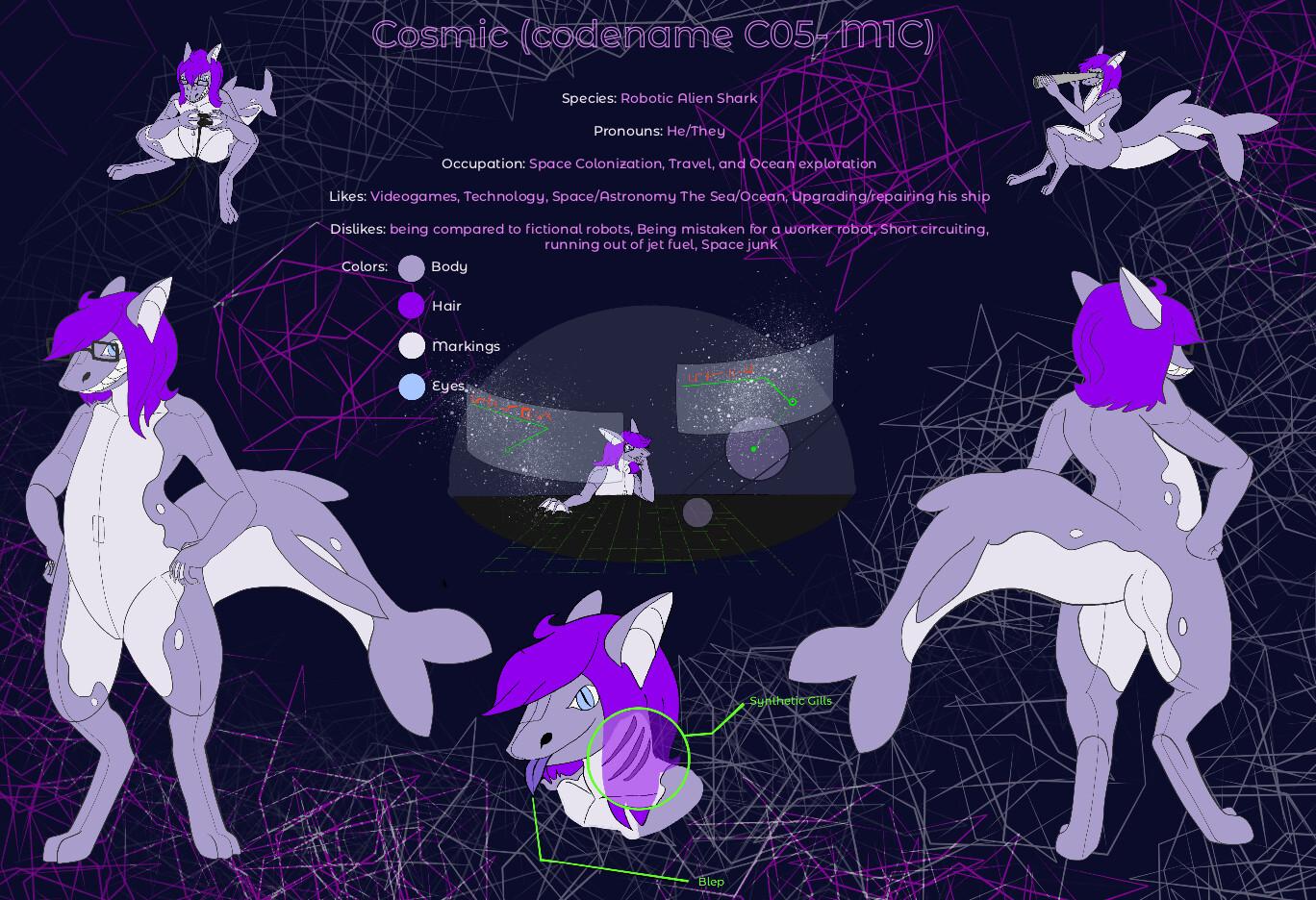 Cosmic ref sheet commission