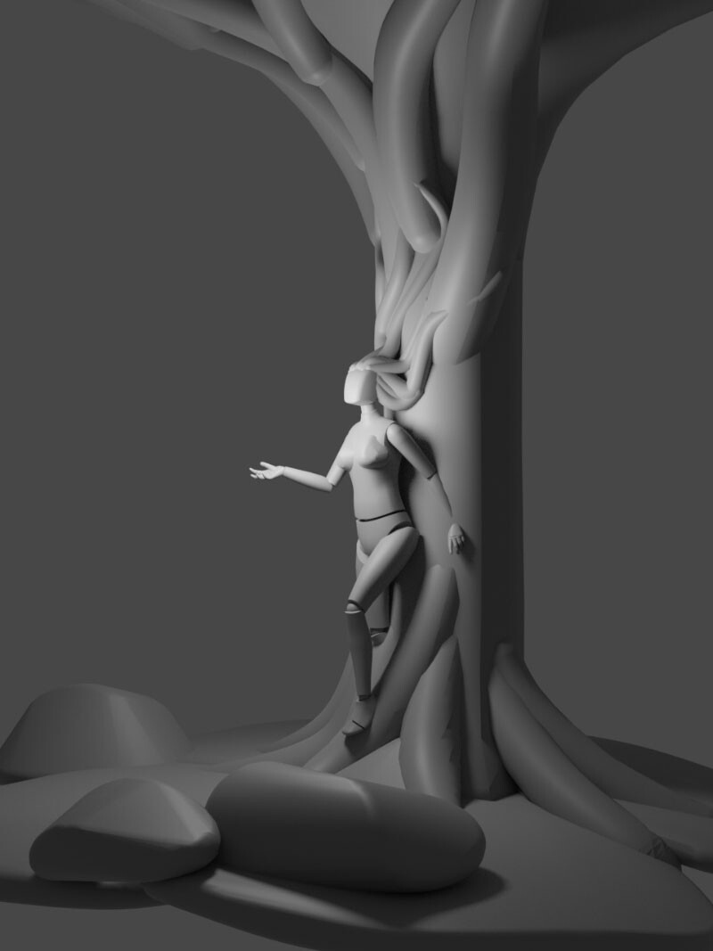 3D maquette modelled in Gravity Sketch and rendered in Blender