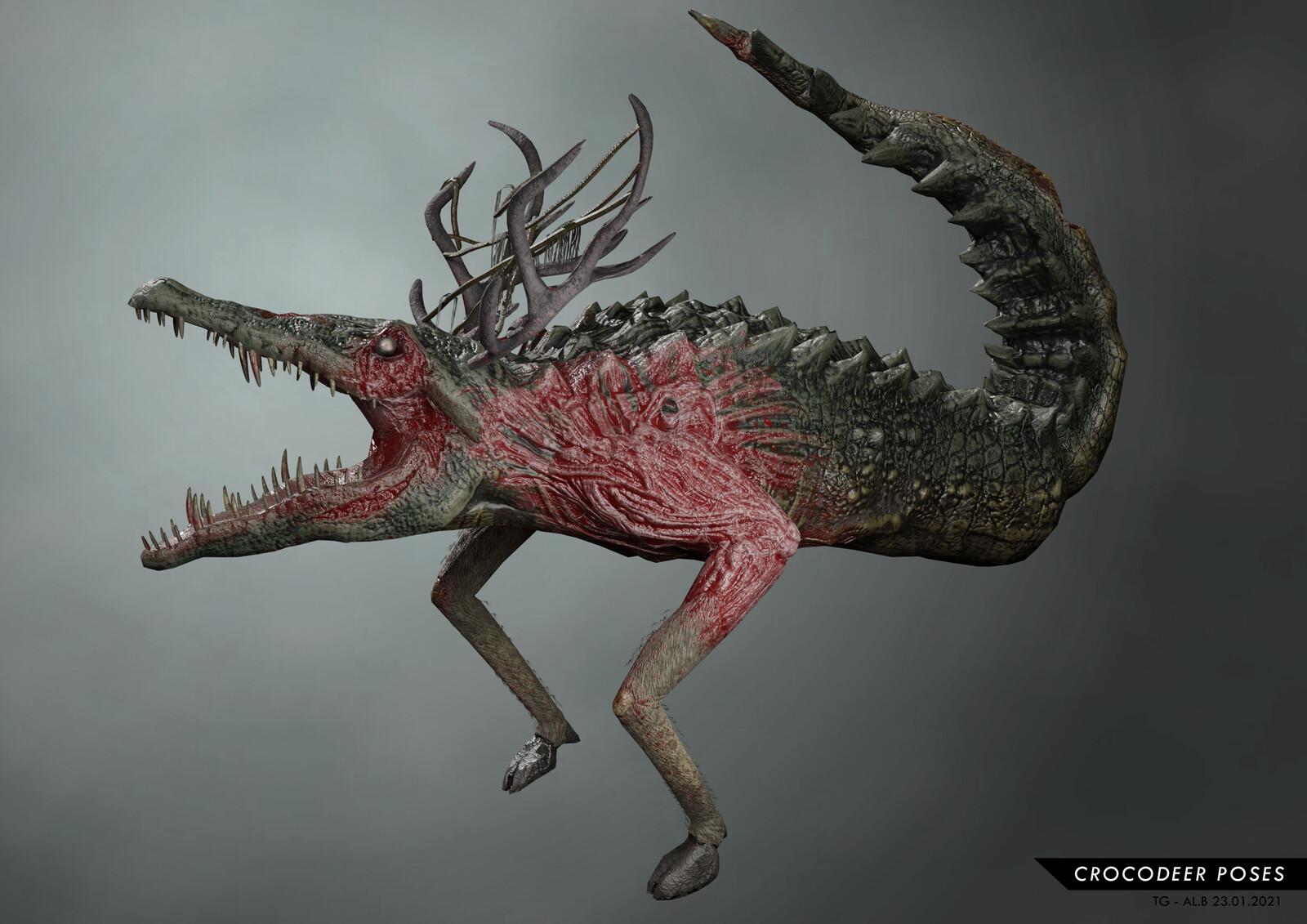 CrocoDeer Game Creature 2021