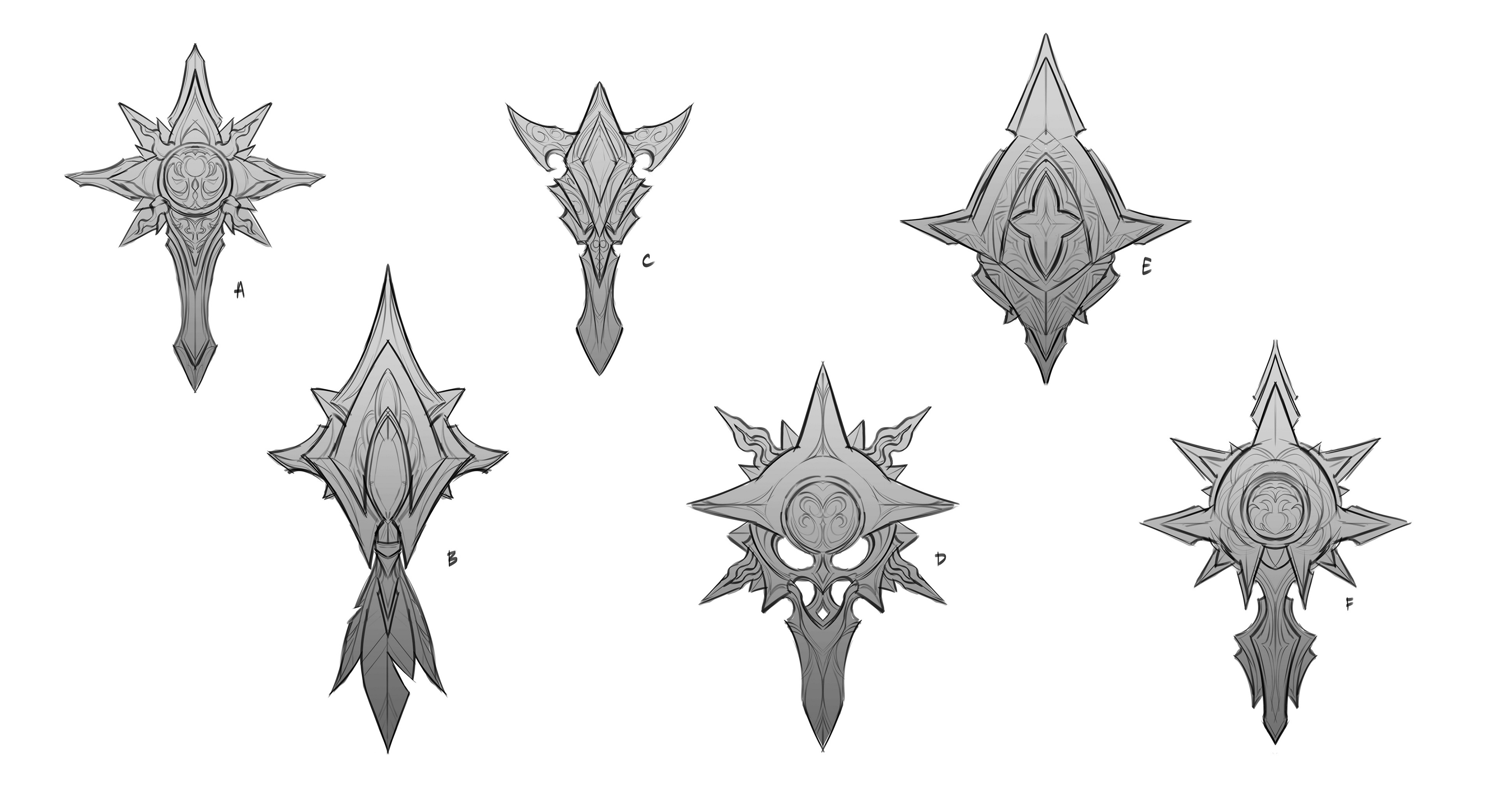 Detailed brooch explorations (probably didn't have to be so detailed I just wanted to have fun!)
