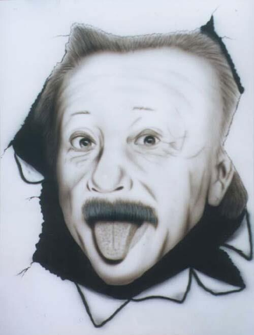 Airbrush on paper