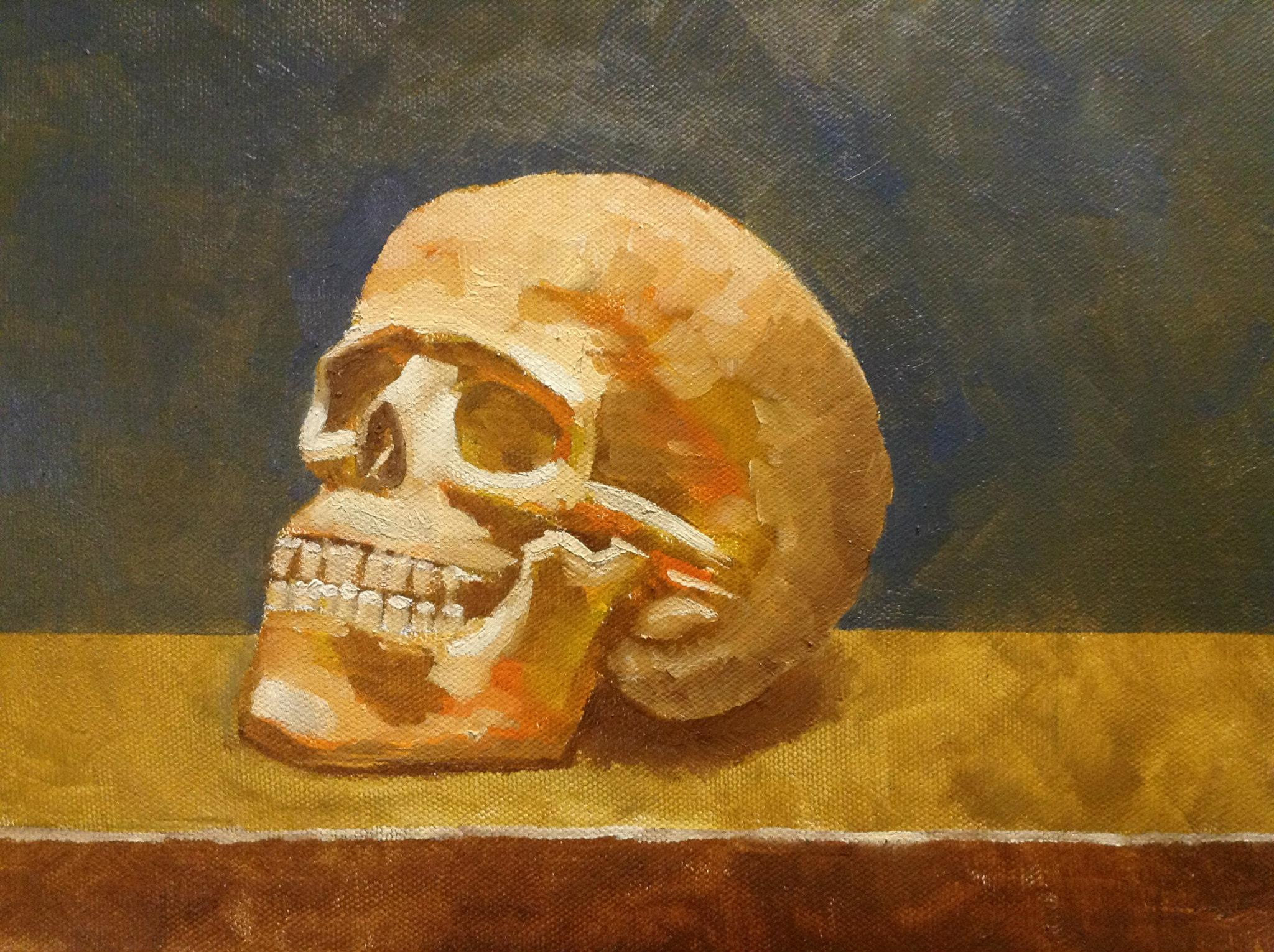 Oil paint on board