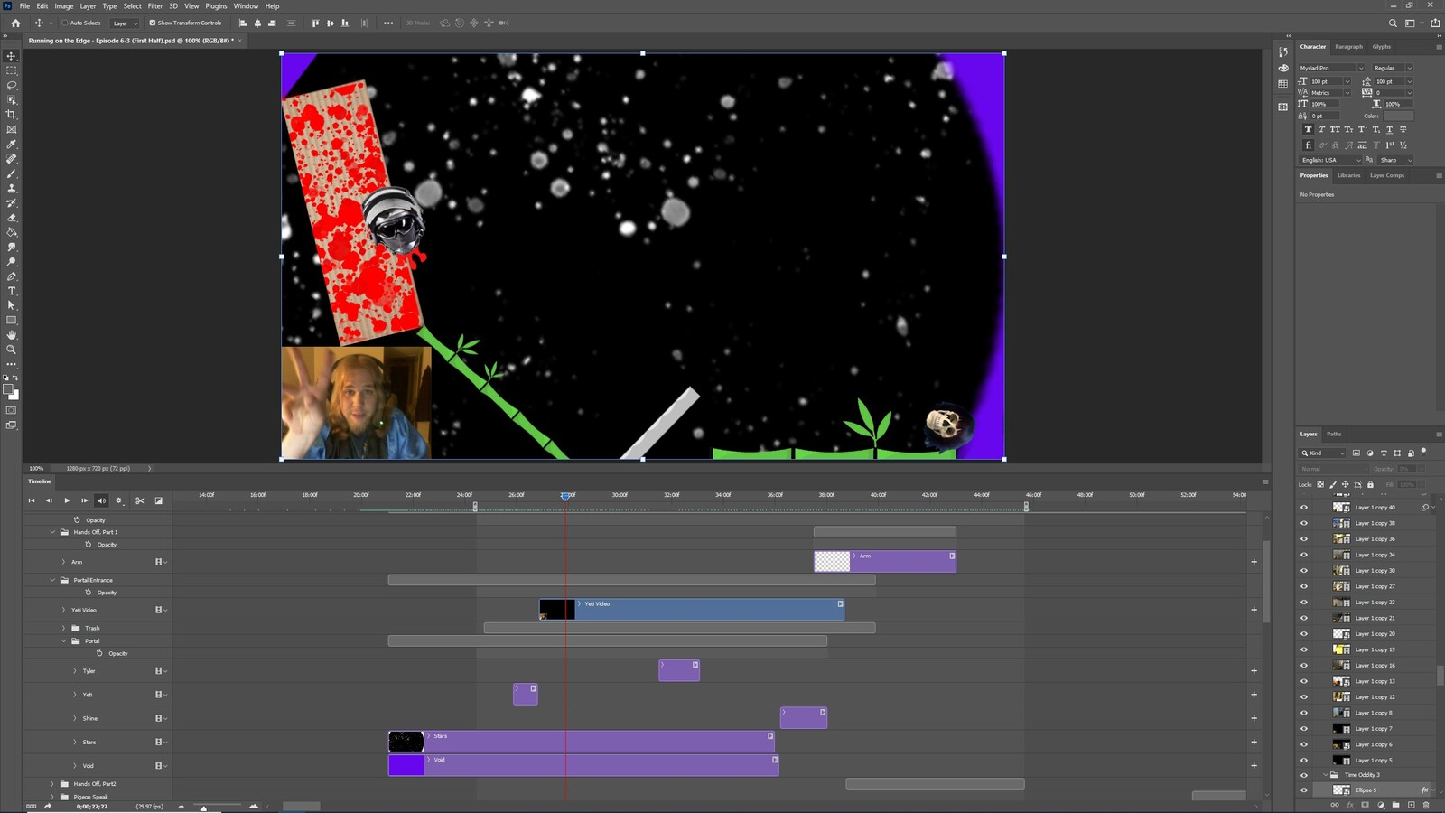 """The """"Bringing it Back"""" visual effect within Photoshop video editor"""