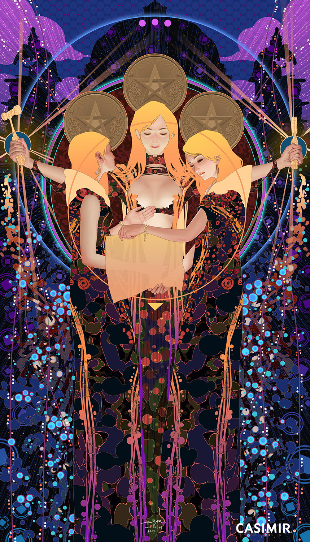CASIMIR ART Minor Arcana 塔羅小秘儀  THREE of PENTACLES / 錢幣三