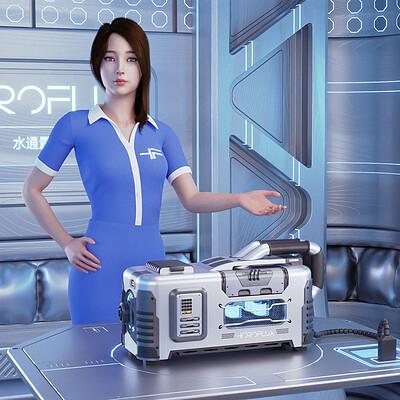 Hydroflux Sci-Fi Crate Presentation