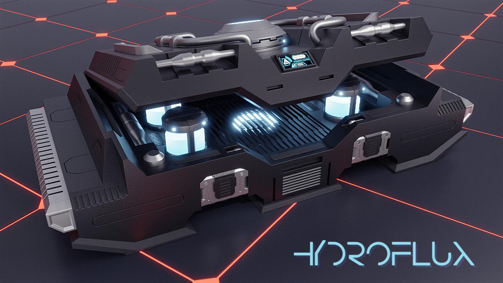 Hydroflux energy core transporter for recharging carryable capacitators.