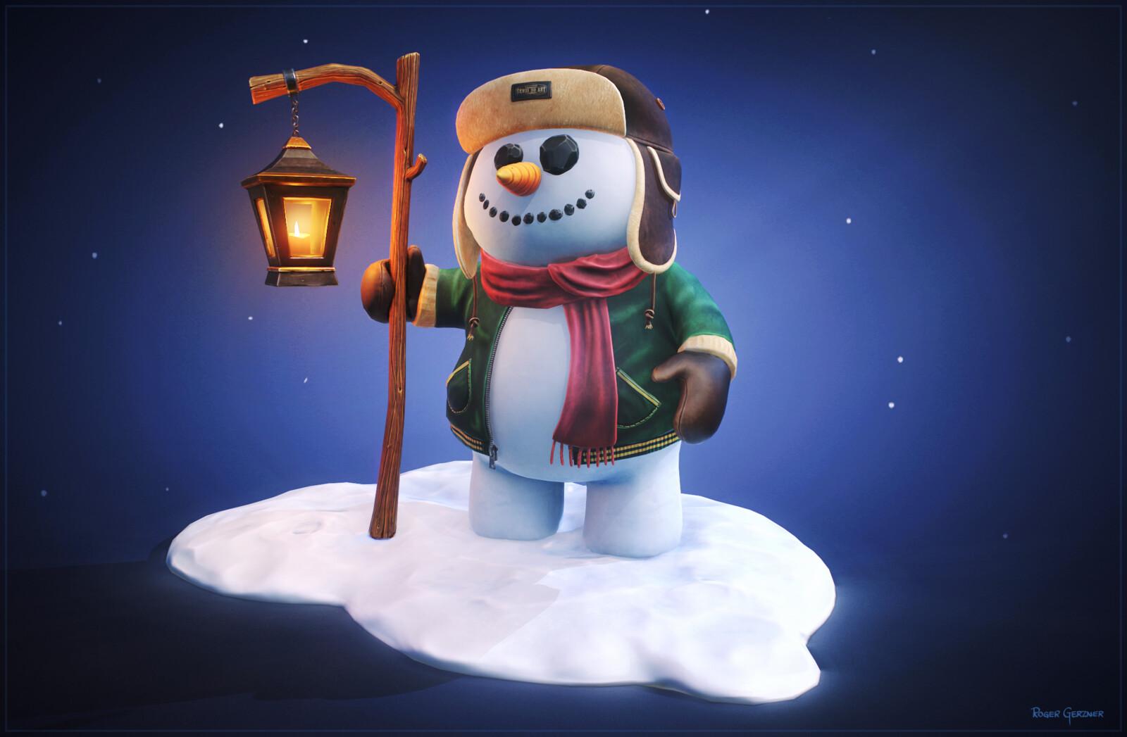 Stylized Snowman