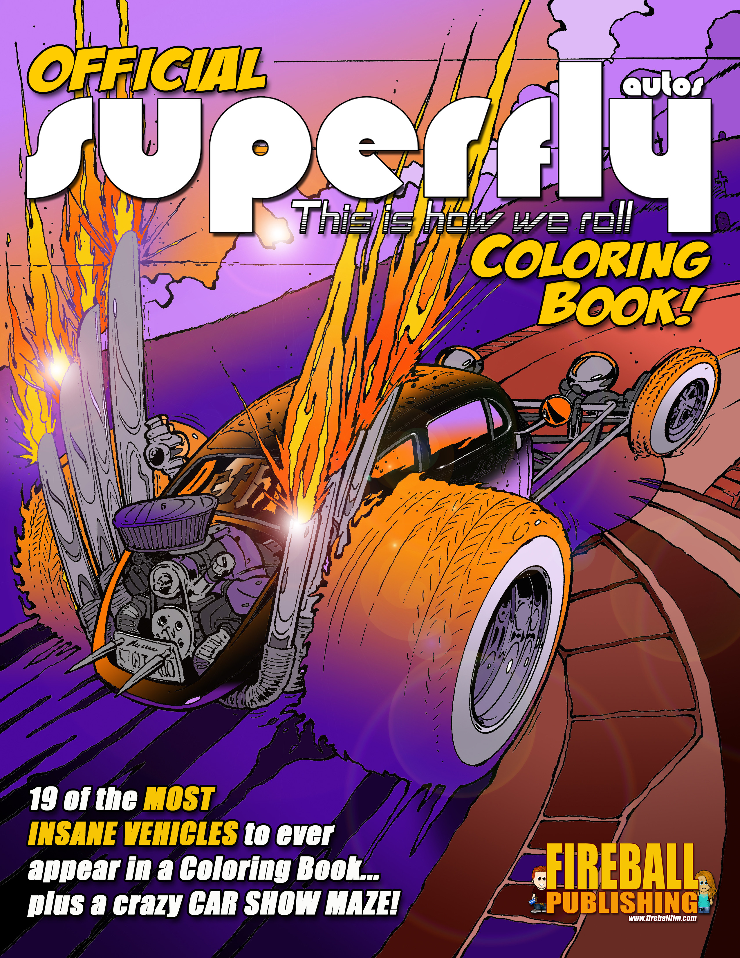 The Official SUPERFLY AUTOS Coloring Book is now available on AMAZON.