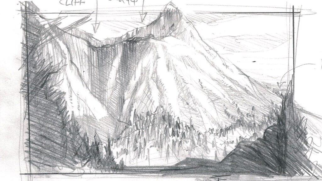 Initial storyboard sketch