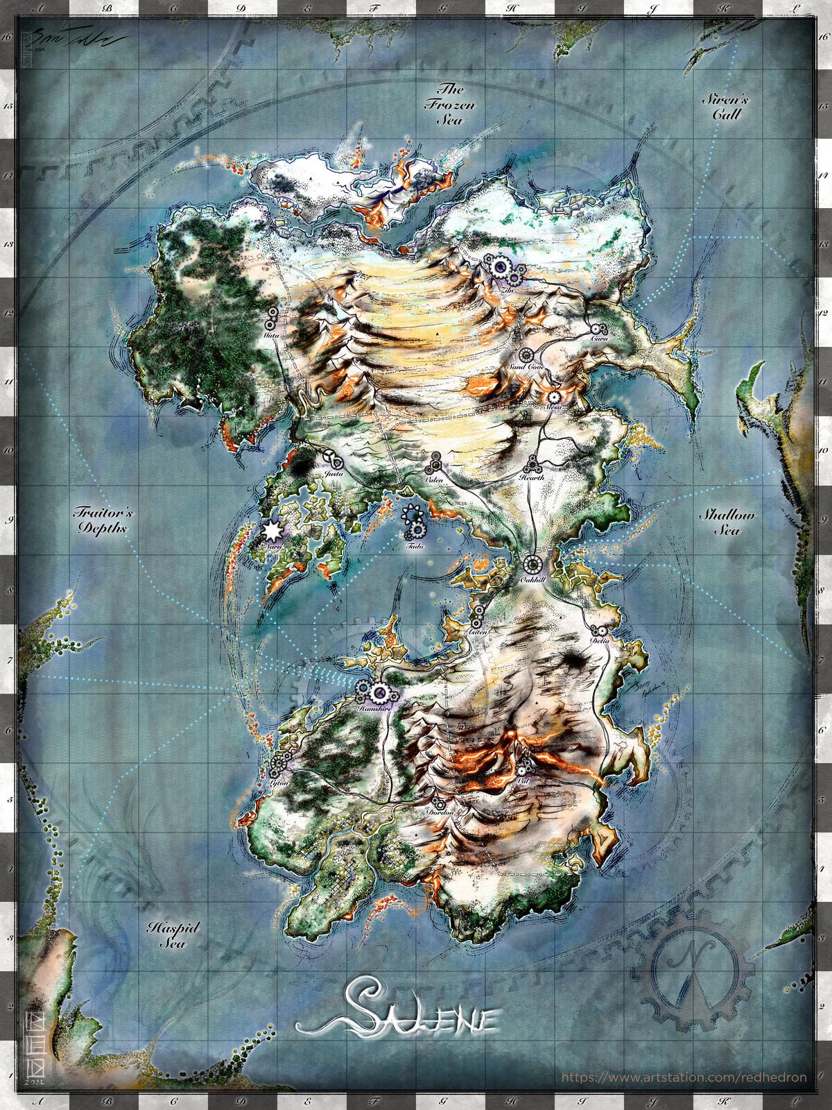 The World of Salene - Map