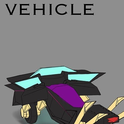 Raiden otto raidenotto cyberpunk vehicle conceptart 2020