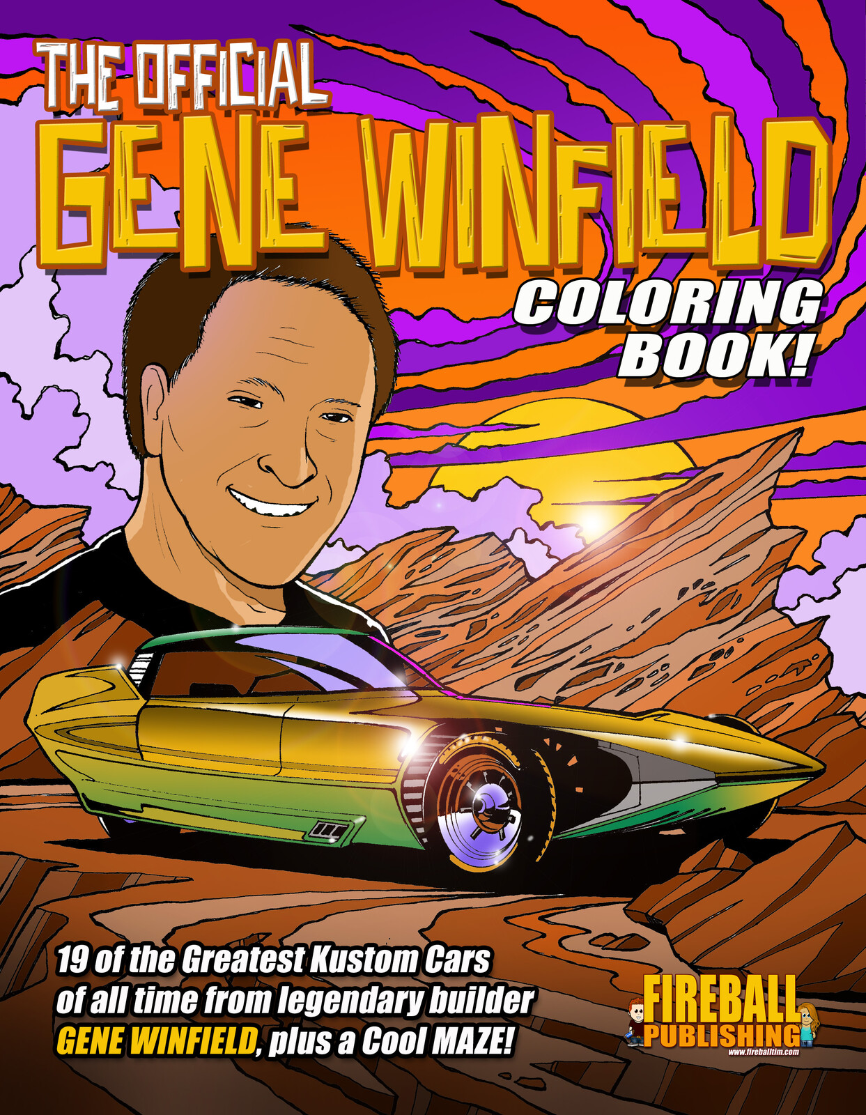 The Official GENE WINFIELD Coloring Book