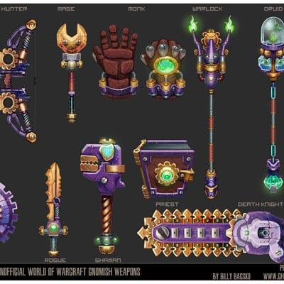 Billy bacsko warcraft weapons concept final