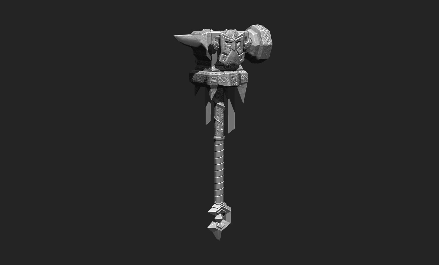 ZBrush decimated high-poly sculpts