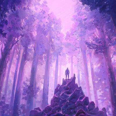 Jorge jacinto synthwave forest 1080