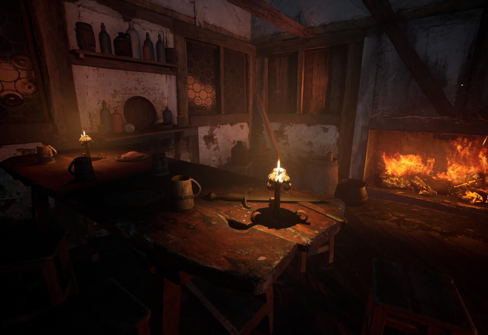 Tavern Interior: Unreal Quicksketch
