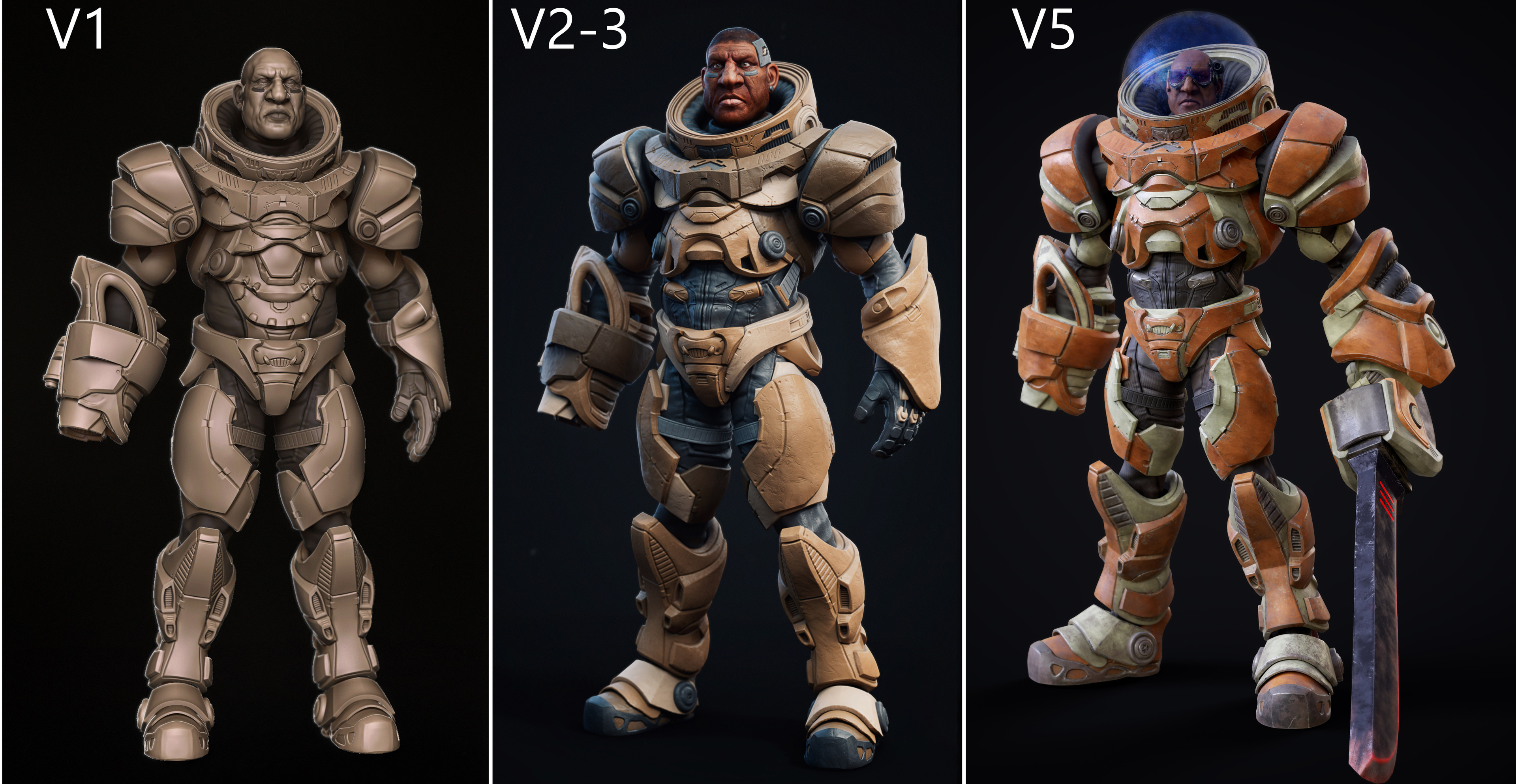 3 versions created during the all process