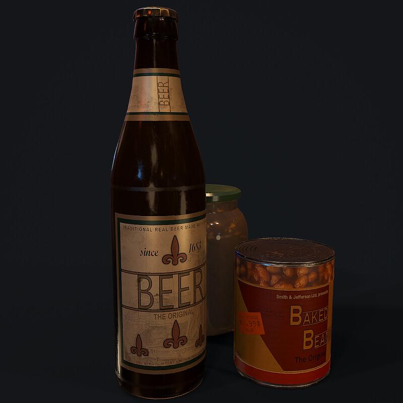 Beer Bottle and Baked Beans - (Horror Corridor)