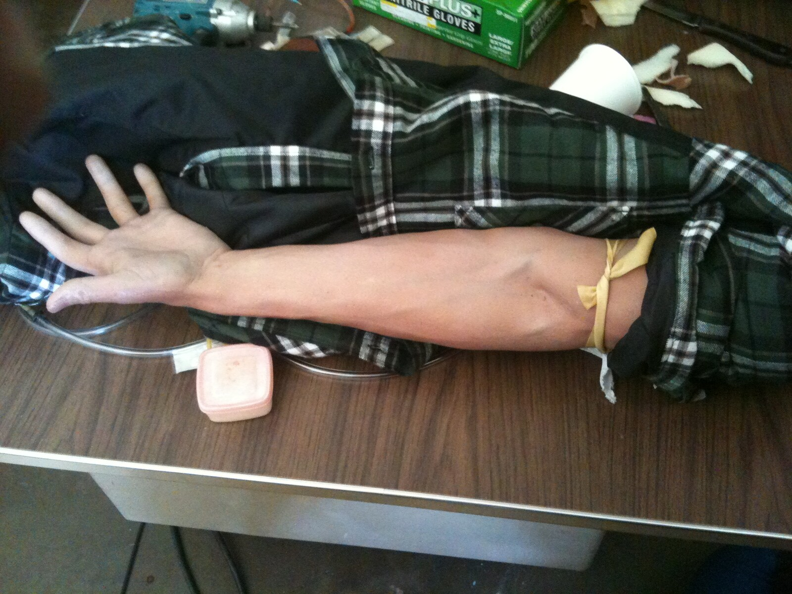 Injection Arm Anatomical Insert Prop