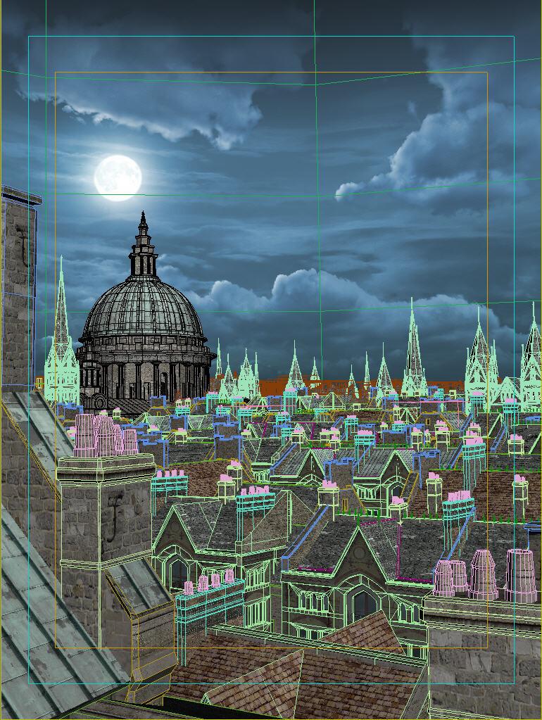 London Rooftops - WIP 3D scene