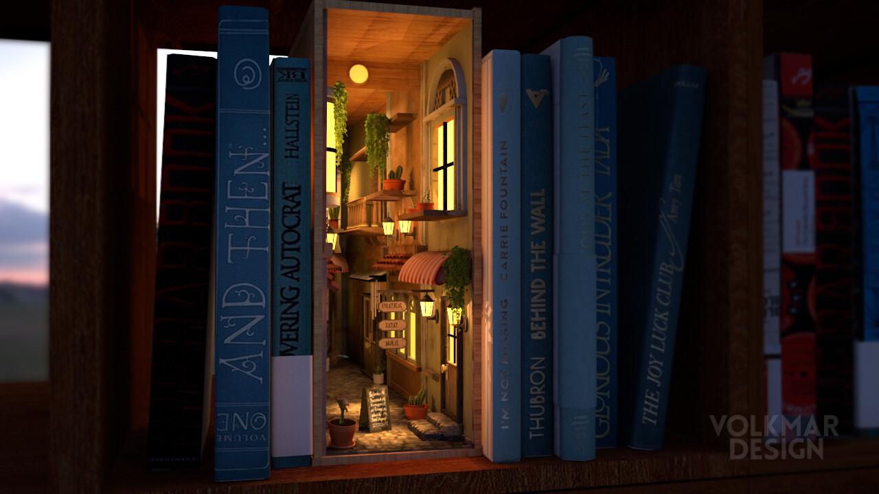 3D Book Nook