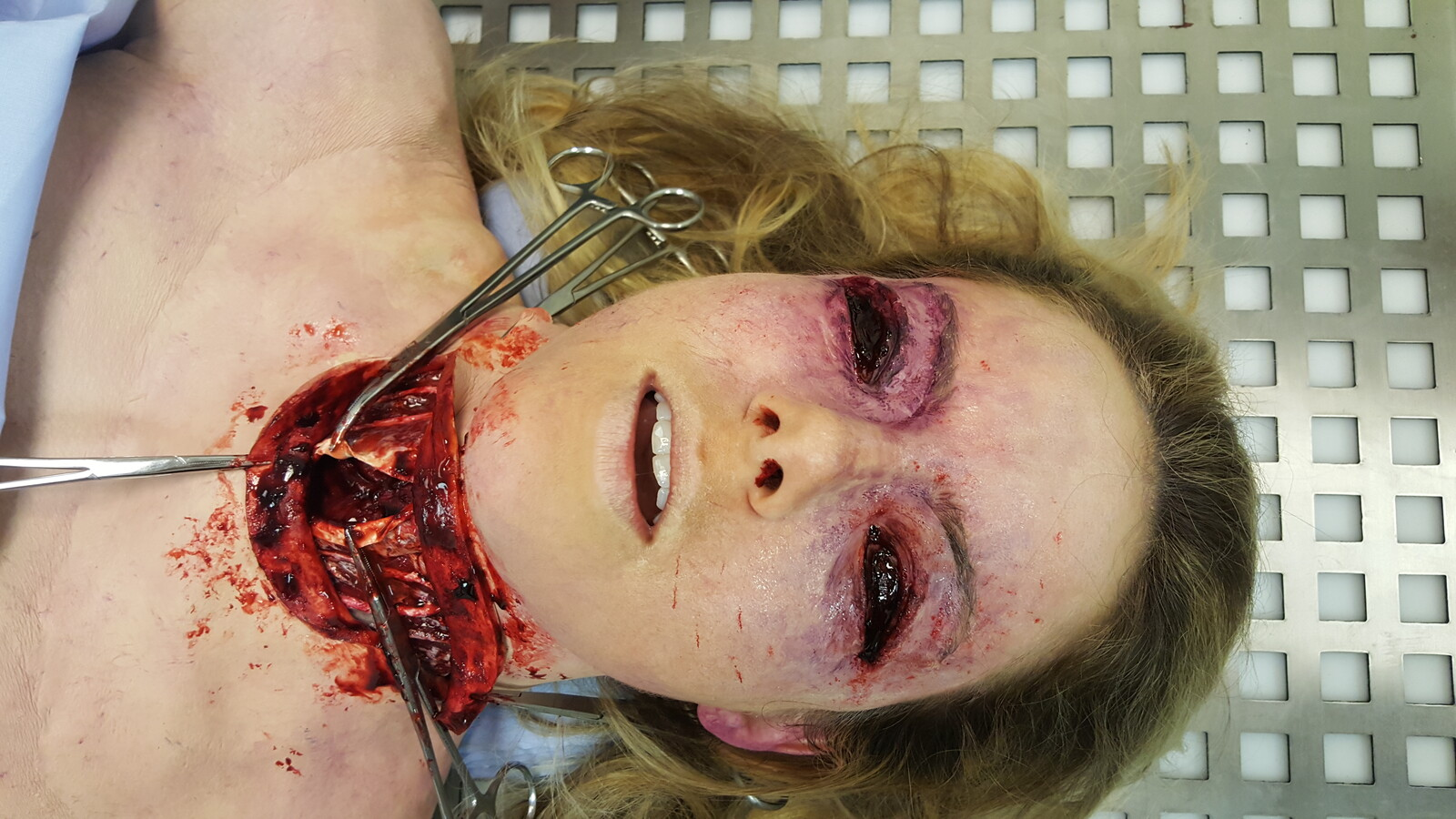 Eyeless Horror Surgery Make-up