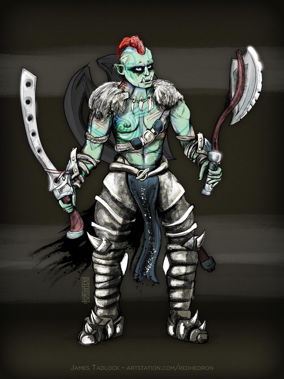Orc Berserker - Character Design