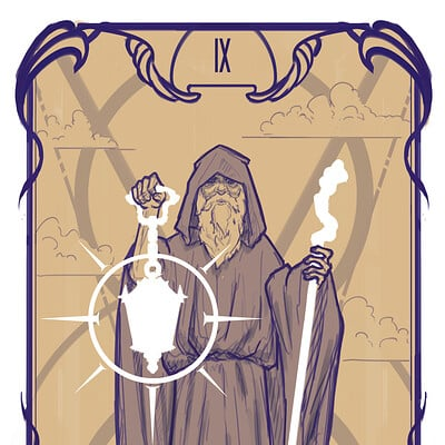 Arnesson art thomas hugo the hermit card