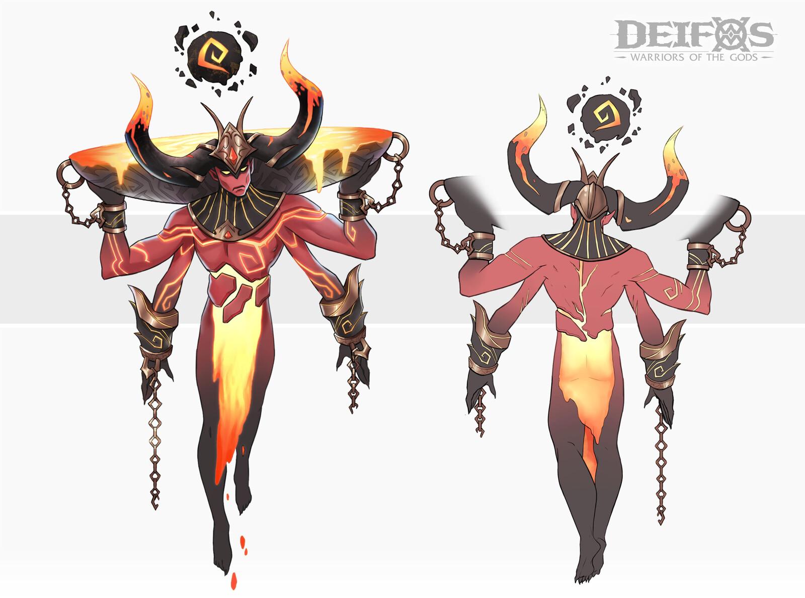 Magvol, the Volcano God