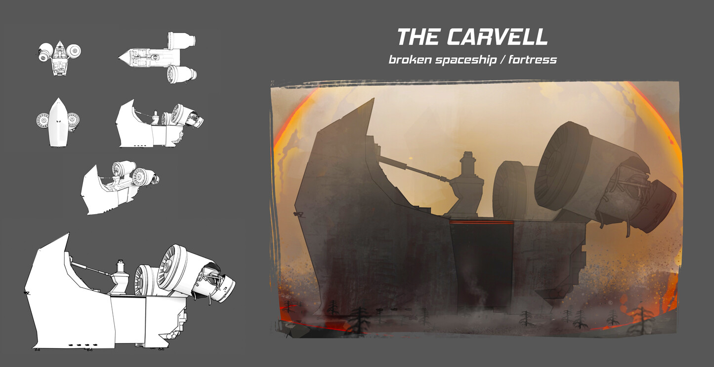 Early prop design - The Carvell